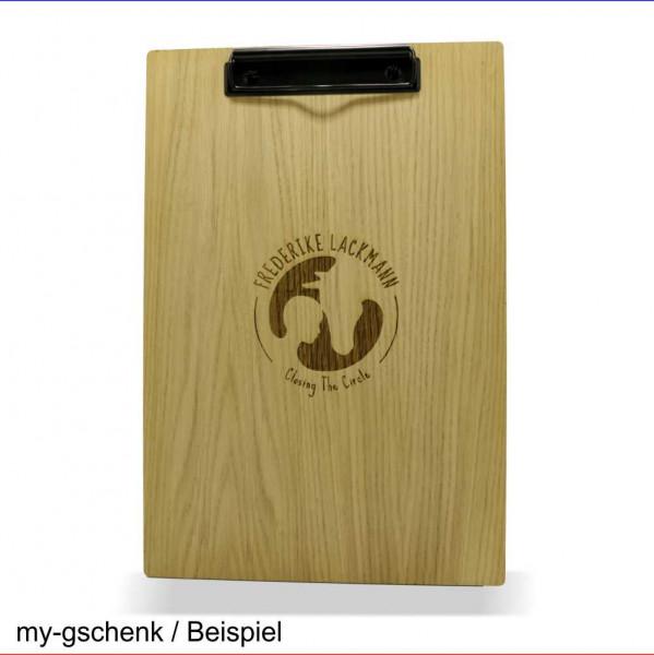 Holz Klemmbrett Eiche DIN A4