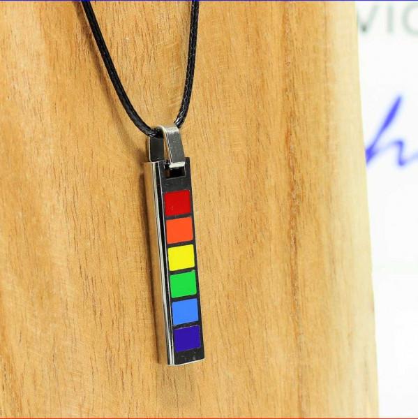 Schmuckanhänger Rainbow Edelstahl 6 Farben