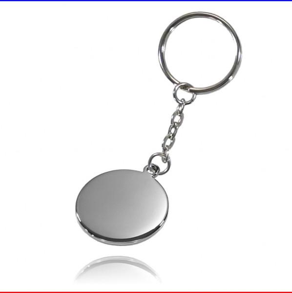Schlüsselanhänger Ronde 27mm Edelstahl