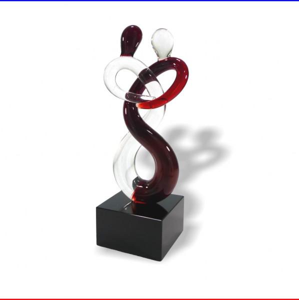 Glas Skulptur verbundenes Liebespaar