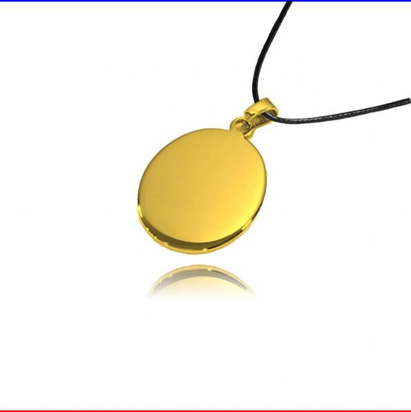 Schmuckanhänger Oval Edelstahl gold