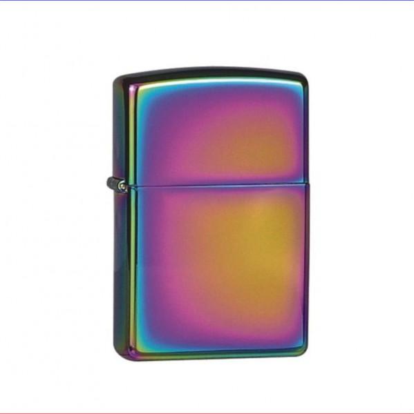 Zippo Feuerzeug geflammt Rainbow