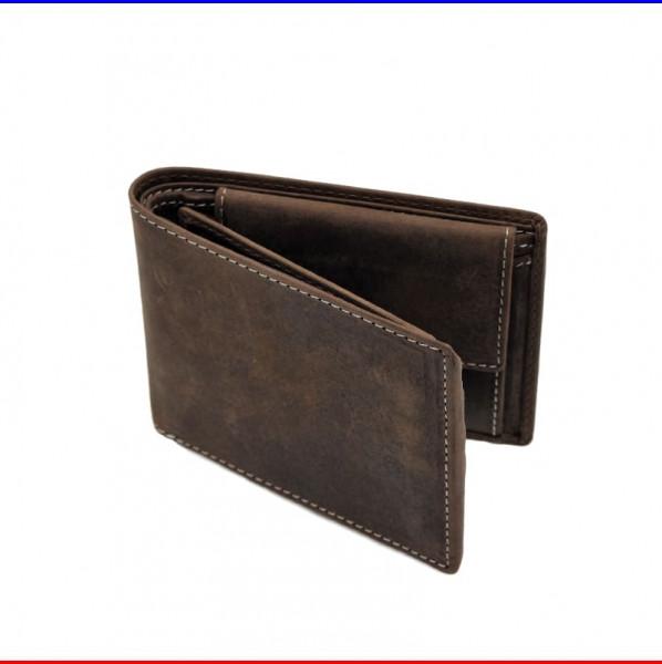 Brieftasche aus Leder in dunkel-braun