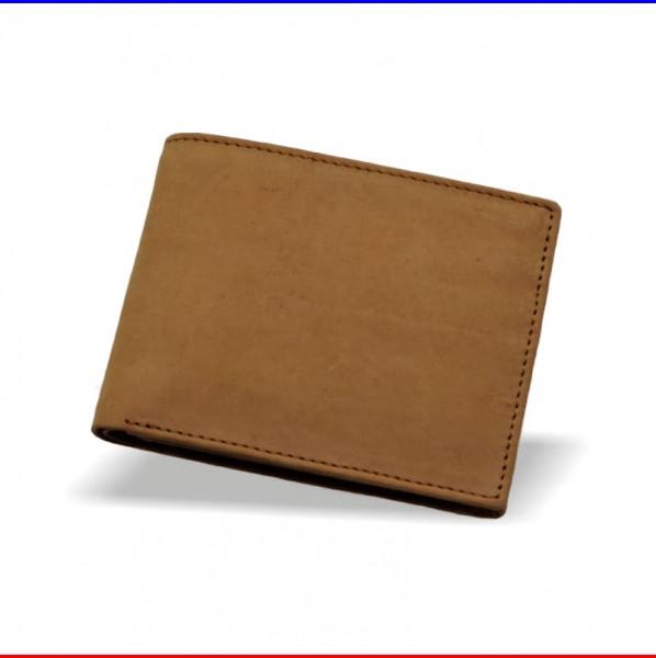 Brieftasche aus Leder in hell-braun