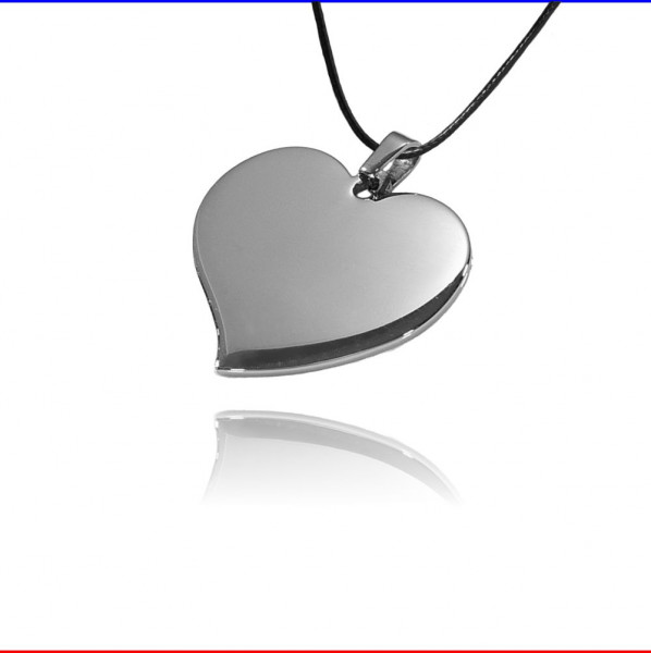 Schmuckanhänger geschwungenes Herz Edelstahl silber