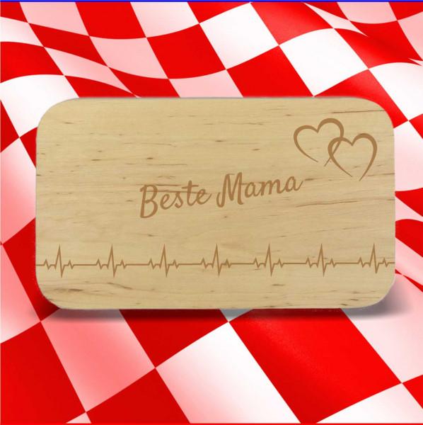 Frühstücksbrett Beste Mama mit Herzlinie