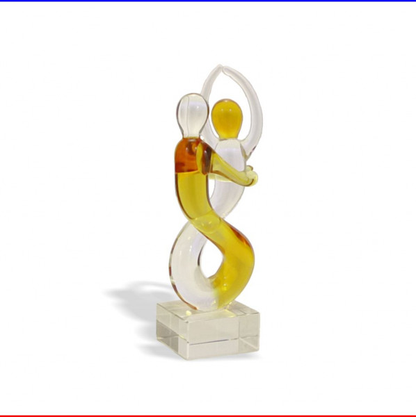 Glas Skulptur Liebespaar Herz K4