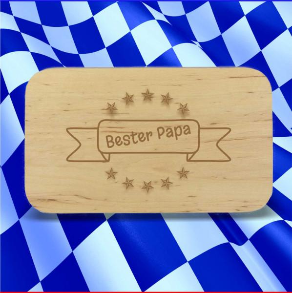Frühstücksbrett Bester Papa im Banner