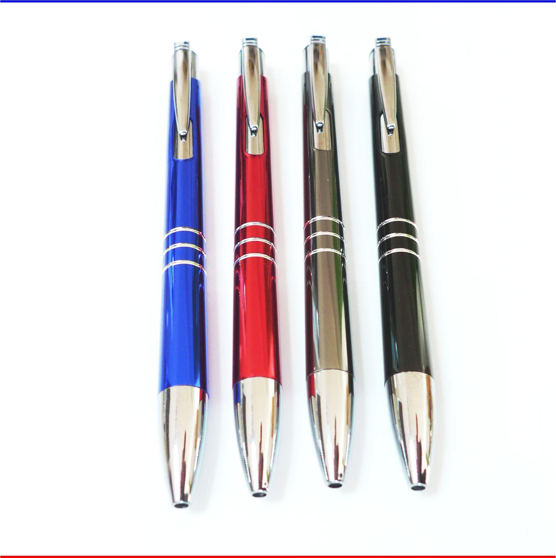 Graviert Kugelschreiber Metall Blau mit Ihrer Werbung Namen Symbol uvm
