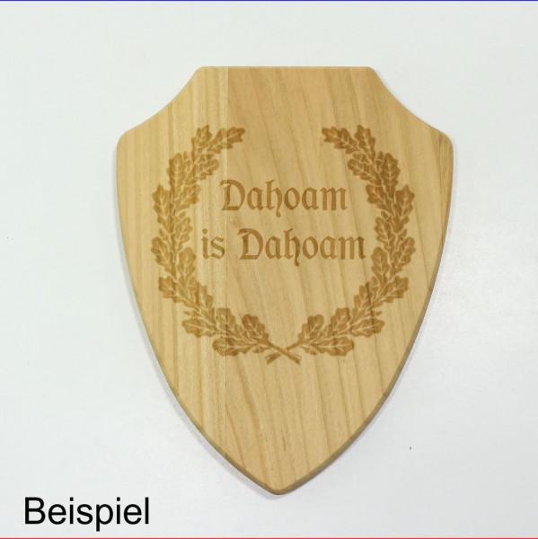 Holz Wappen Schild