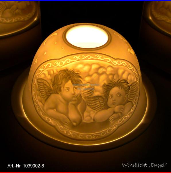 Windlicht Teelicht Engel