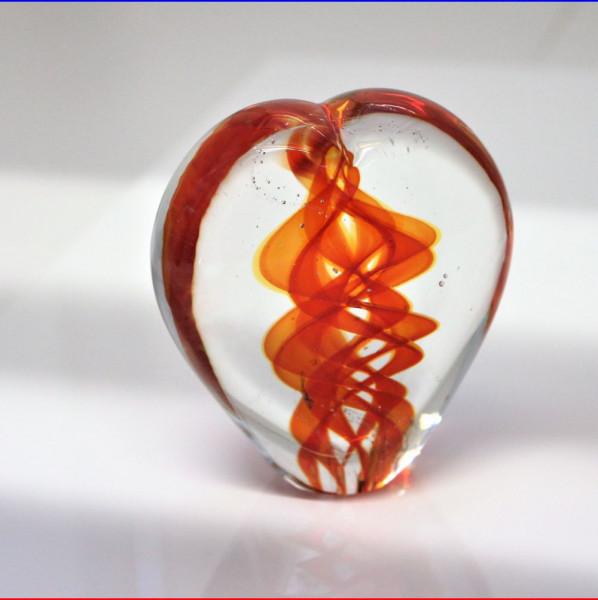Herzskulptur Glas rot 8cm
