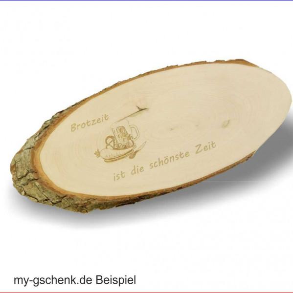 Rindenbrett Servierbrett 56-65cm Erlenholz