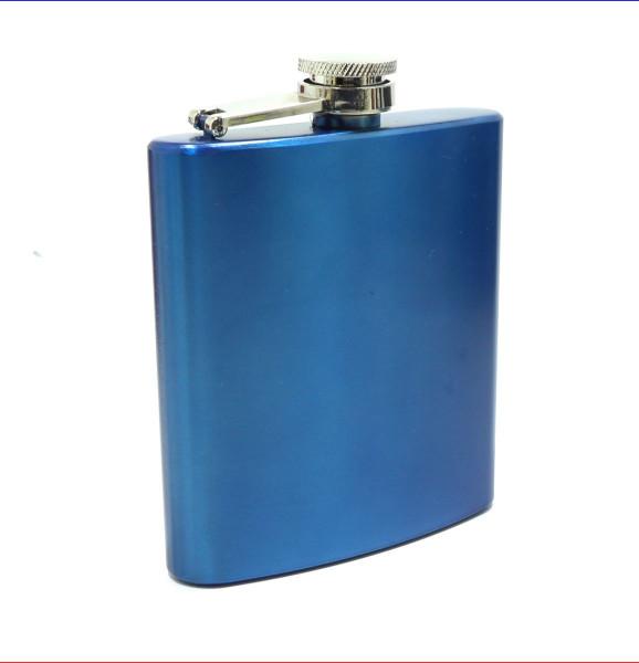 Flachmann Blau matt 6oz