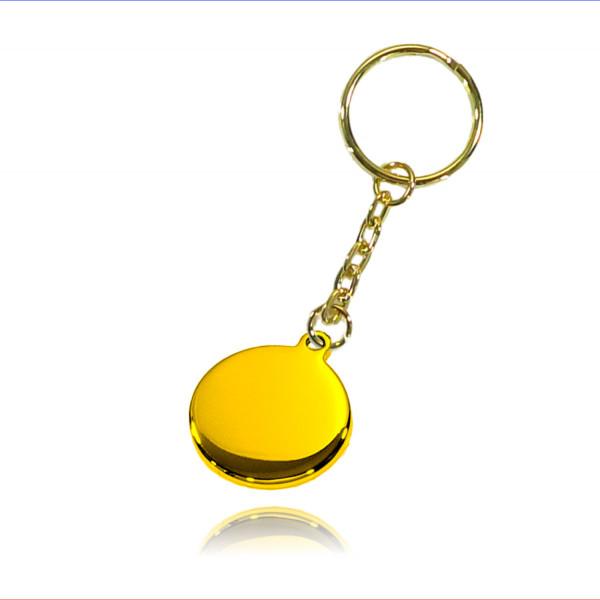 Schlüsselanhänger Ronde 23mm Edelstahl vergoldet