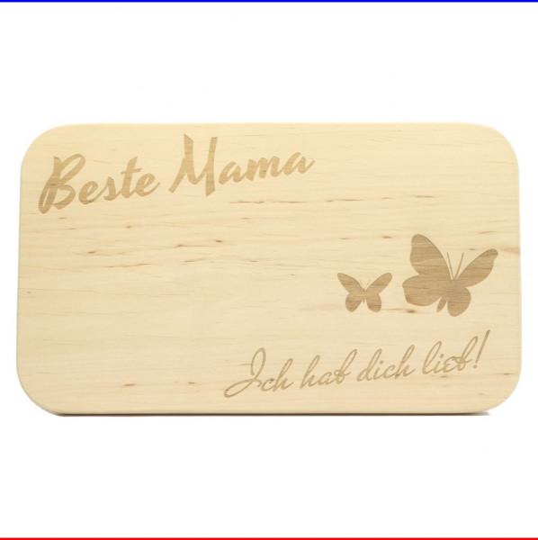 Frühstücksbrett Beste Mama Schmetterling