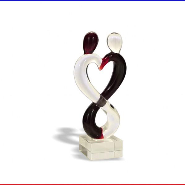 Glas Skulptur Liebespaar K3