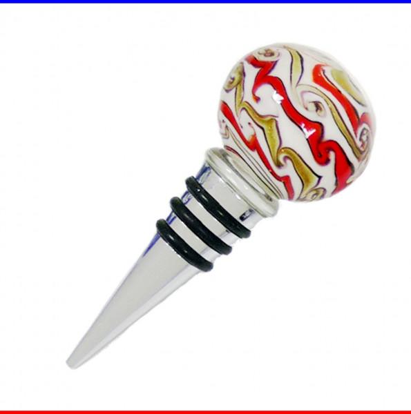 Flaschenverschluss im Murano Design aus Glas 4cm Glaskugel