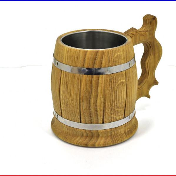 Bierkrug Holzkrug Eiche - 0,5Liter