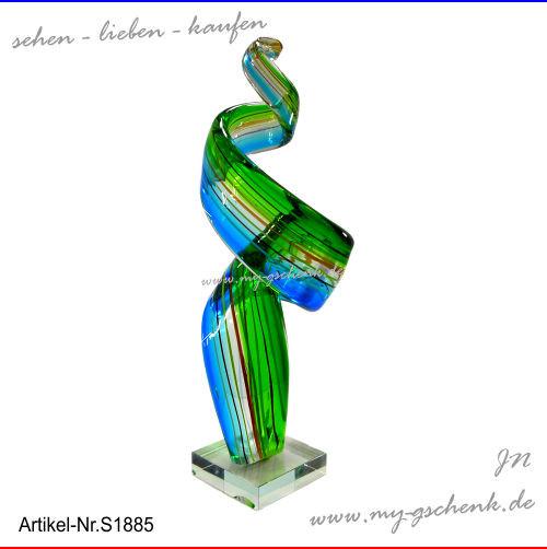 Glas Skulptur Wingcool