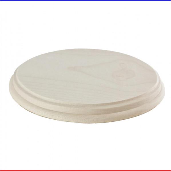 Holz Türschild 16,5x12cm Oval facettiert