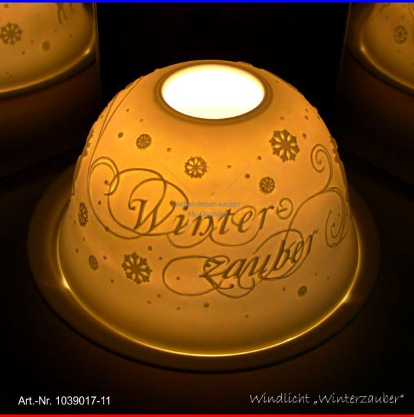 Windlicht Teelicht Winterzauber