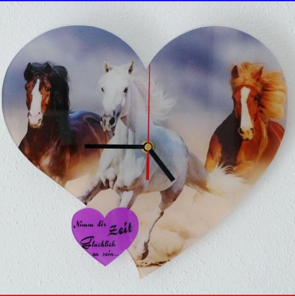 Wanduhr Herz Fotodruck