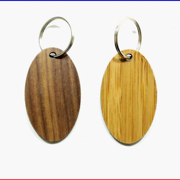 Holz Schlüsselanhänger Oval Furnier Werbemittel