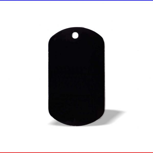 DogTag ID Anhänger Aluminium schwarz eloxiert