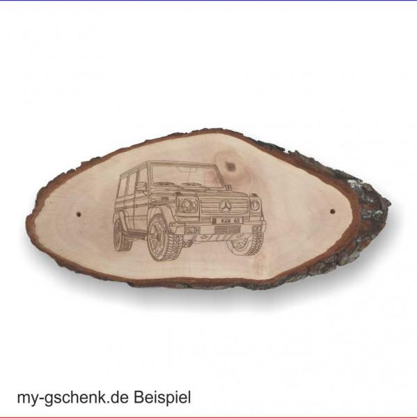 Rindenscheibe Türschild Erlenholz