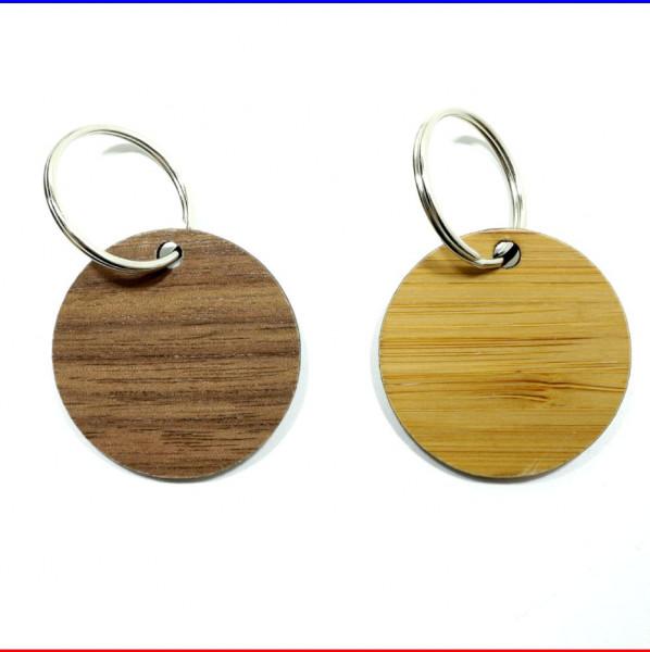 Holz Schlüsselanhänger Rund Furnier