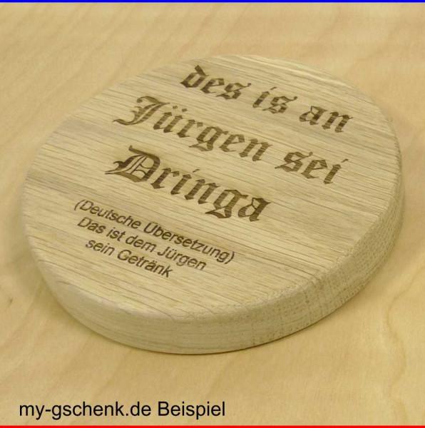 Holz Bierdeckel aus Eiche Ø11cm